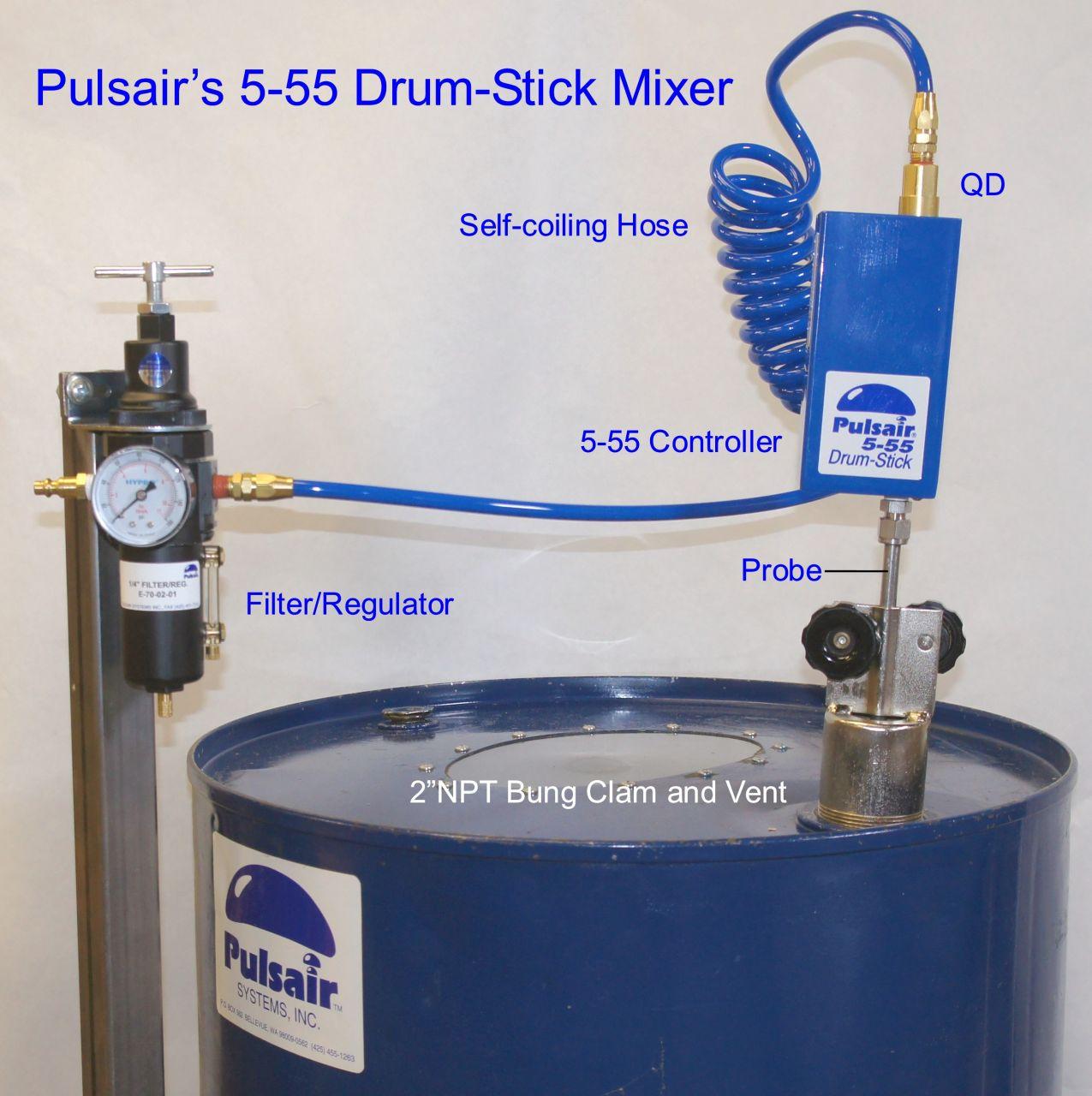 Drum mixers 55 gallon