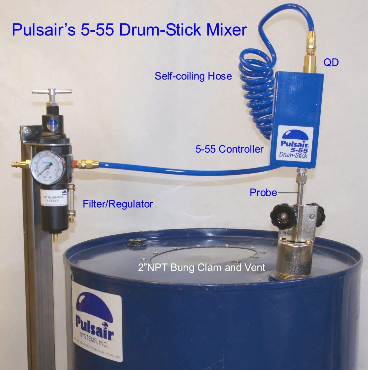 55 Gallon Drum Agitator