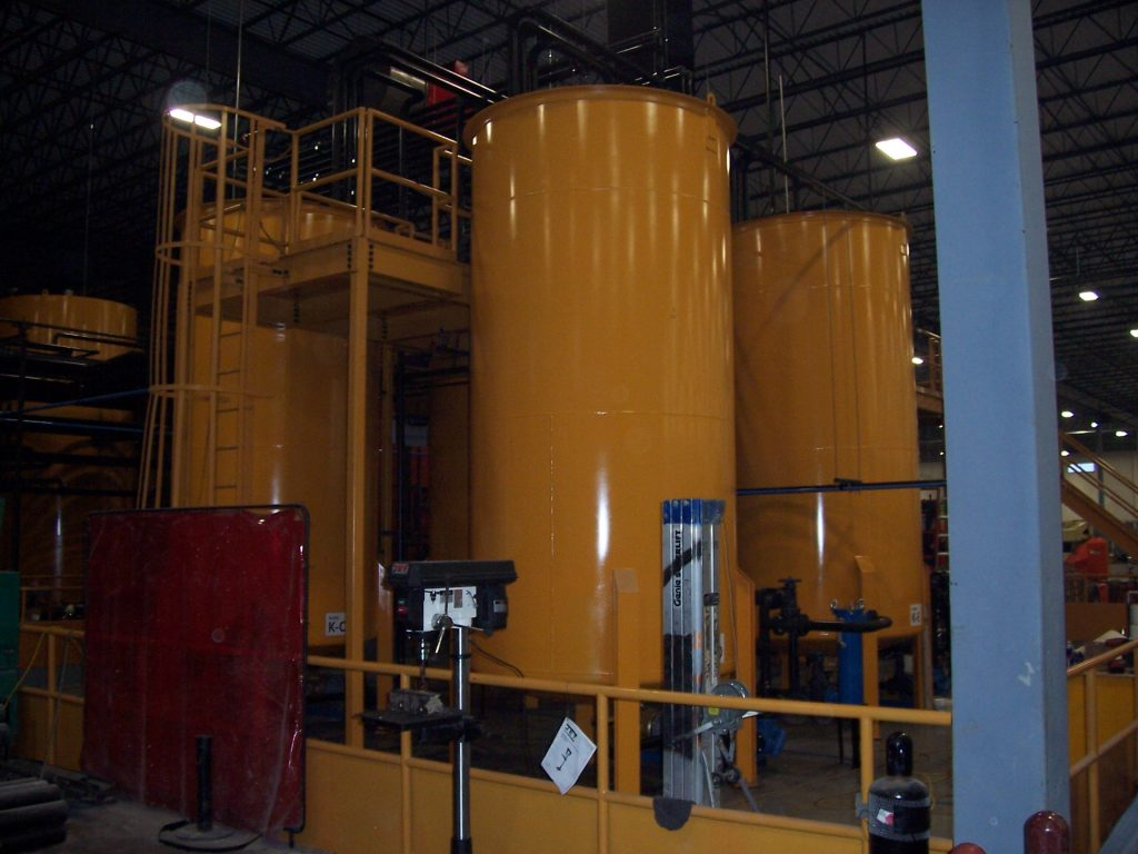 lubricant blending tank mixing