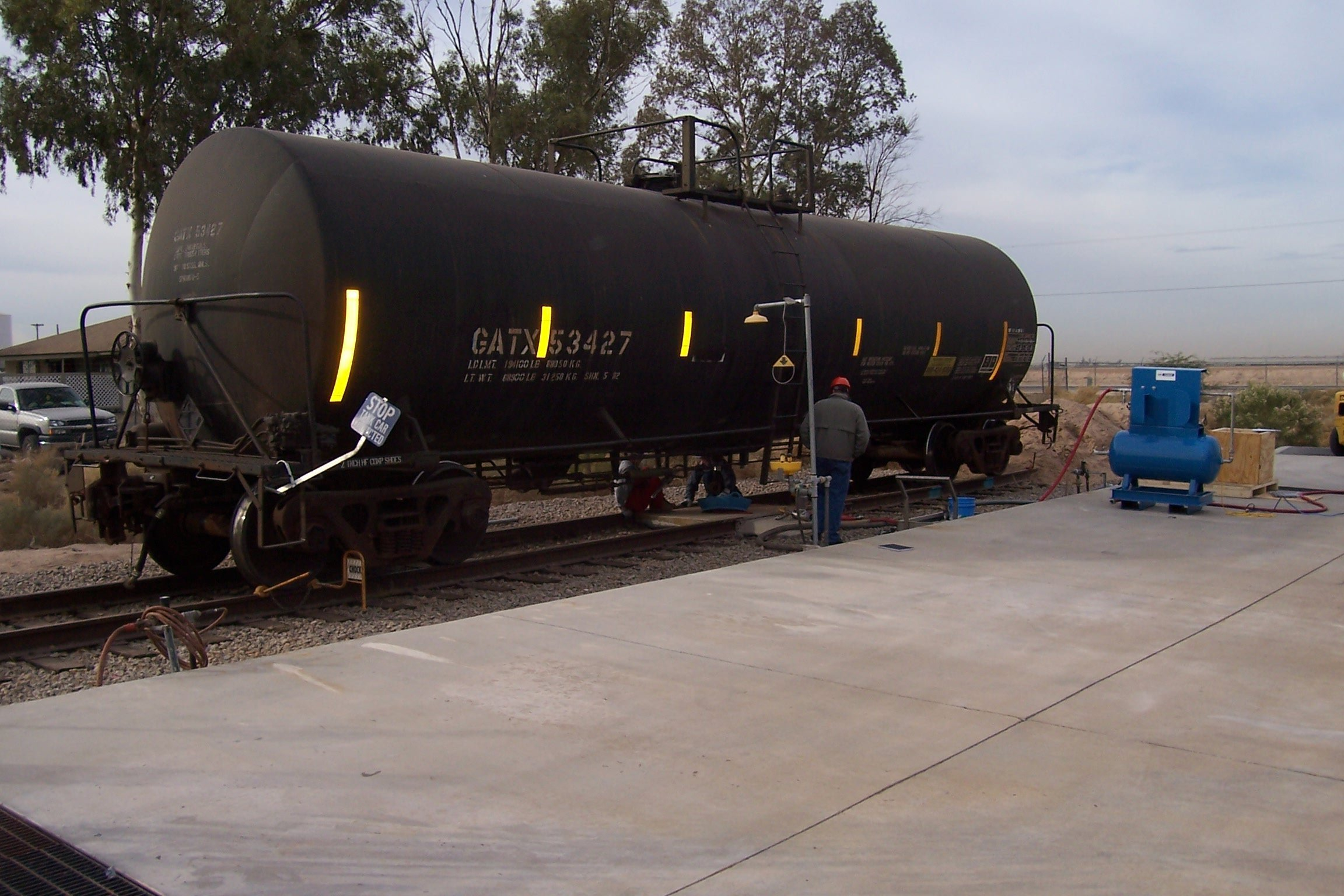 rail car tank mixing